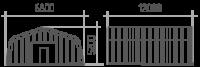 Арка (профиль А) 6.8х12х5.2