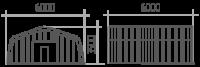Арка (профиль А) 6х6х3.5