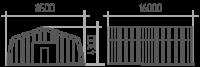Арка (профиль А) 8.5х16х4.3