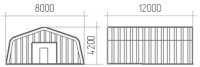 Арка (профиль А) 8х12х4.2