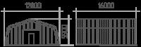 Арка (профиль А) 12х16х5.9