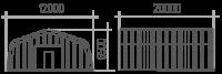 Арка (профиль А) 12х20х6.5