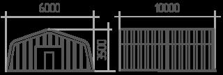Арка (профиль А) 6х10х3.5