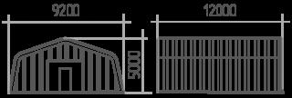 Арка (профиль А) 9.2х12х5
