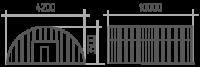 Арка (профиль В) 4.2х10х3.5