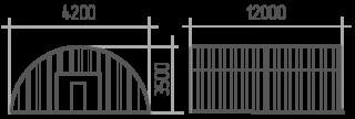 Арка (профиль В) 4.2х12х3.5