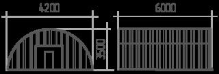 Арка (профиль В) 4.2х6х3.5